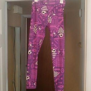 NWOT LulaRoe Nightmare Before Xmas tween leggings
